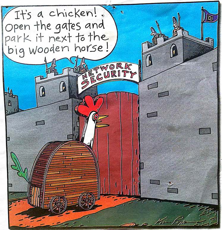 Cartoon – It's a chicken!